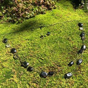 NY & Company Long Black Necklace & Earrings